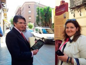 Francisco Jódar, Alcalde de Lorca junto a la concejala de Cultura y Festejos Sandra Martínez